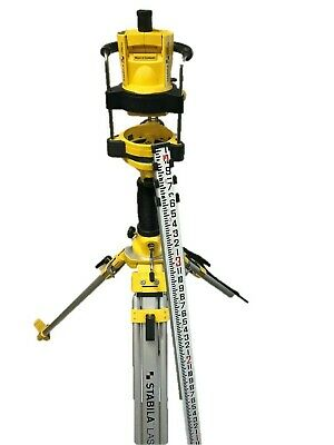 Stabilia Lapr-100 Self-leveling Rotating Laser With Tripod And Dewalt Grade Rod