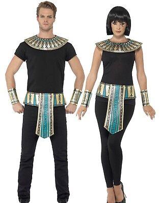 Adulti Faraone Egiziano Kit Donna Uomo Egitto Costume Vestito Nuovo