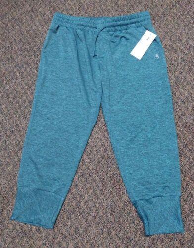 new athleisure capri blue green pants womens