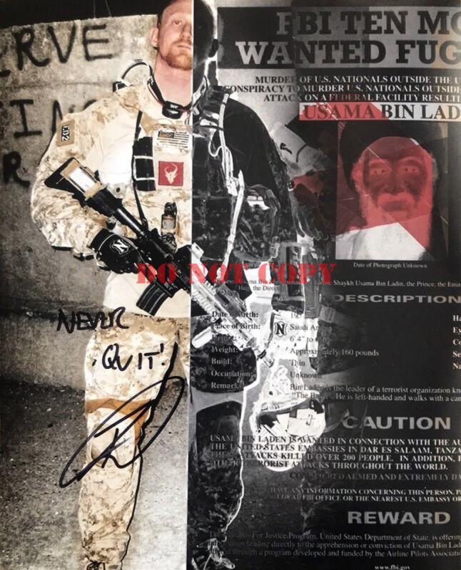Robert O'Neill Autographed 8x10 Photo Navy Seal Team 6 SHOT BIN LADEN Signed Rep