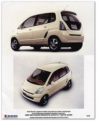 Suzuki New MR-Wagon Debuts in Japan Tokyo Show 1999 Press Release Photograph