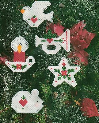 WHITE CHRISTMAS ORNAMENTS PLASTIC CANVAS PATTERN INSTRUCTIONS