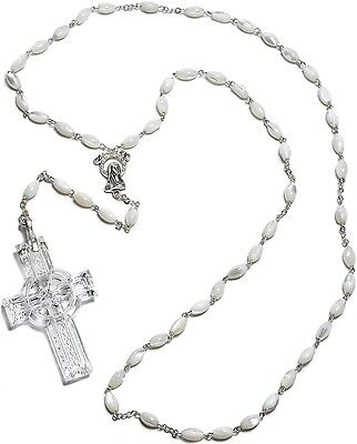 WATERFORD CRYSTAL CELTIC ROSARY BEADS (WITH CRYSTAL CROSS) BRAND NEW/GIFT BOXED