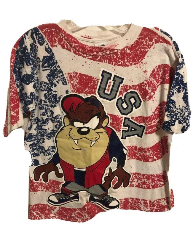 Vintage Taz Tasmanian Devil USA Unisex T-Shirt Looney Tunes Women's Small