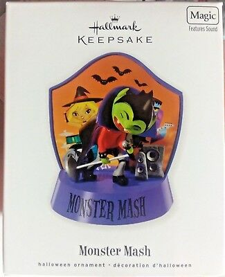New in Box 2010 Halloween Hallmark Ornament Monster Mash Magic Features sound - Halloween Features