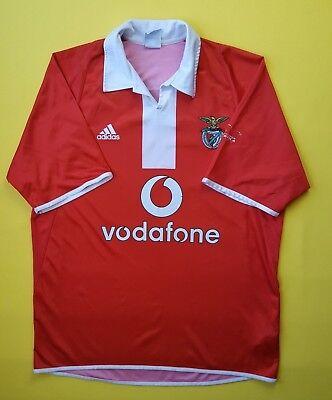 4.4/5 Benfica jersey LARGE 2003 2005 home shirt football soccer Adidas ig93 image