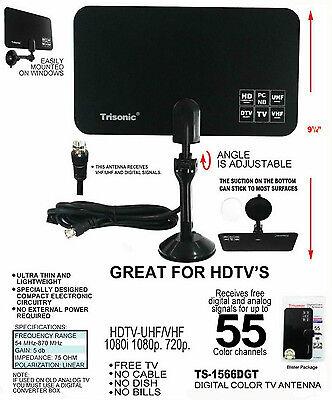 hdtv flat design digital indoor tv antenna
