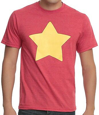 Steven Universe Star Logo Red Heather Mens T Shirt New