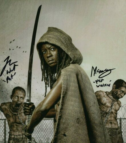 The Walking Dead Michonnes Pets Theshay West Moses Moseley Signed Reprint