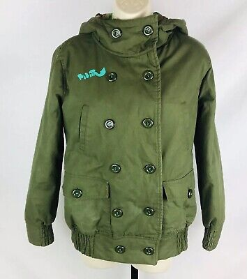 Nikita Snowboard Ski Winter Jacket Coat Lined Womens M Medium Green Button Up