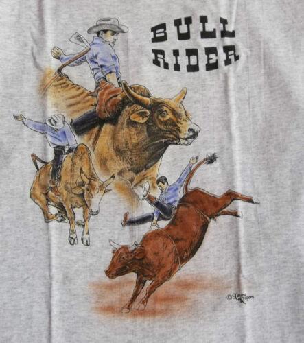 """Bull Rider T-shirt  """" Natural """" SM ( 34 - 36 )"""