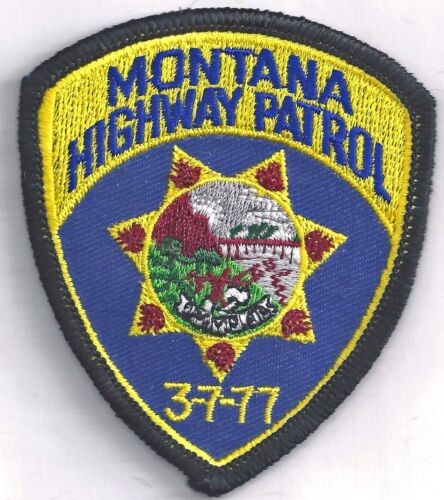 MONTANA HIGHWAY PATROL - SMALL SHOULDER PATCH - IRON OR SEW-ON PATCH