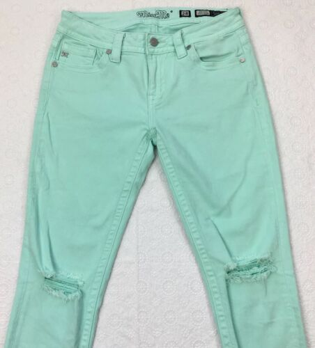 Miss Me Mid-Rise Ankle Skinny Jeans Size 28 Mint