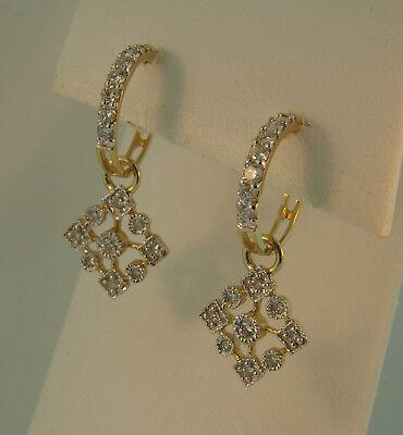 14K Yellow Gold Diamond Snowflake -