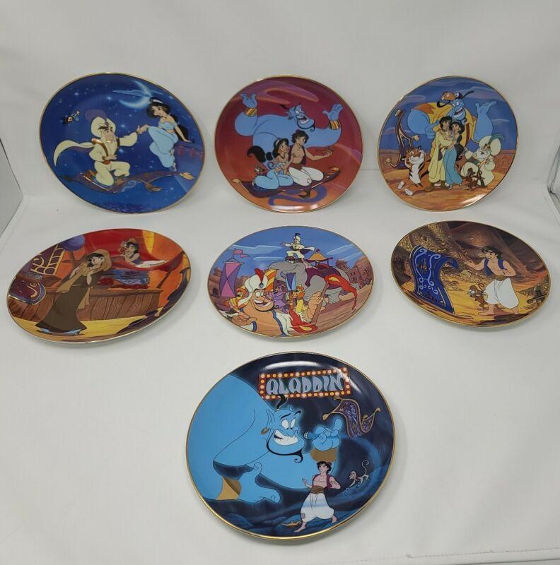 Lot of 7 Disney Aladdin Bradford Exchange Collector