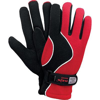 Winterhandschuhe Handschuhe Super Warm Fleecestoff Rot Schwarz Gr. 8 NEU TOP