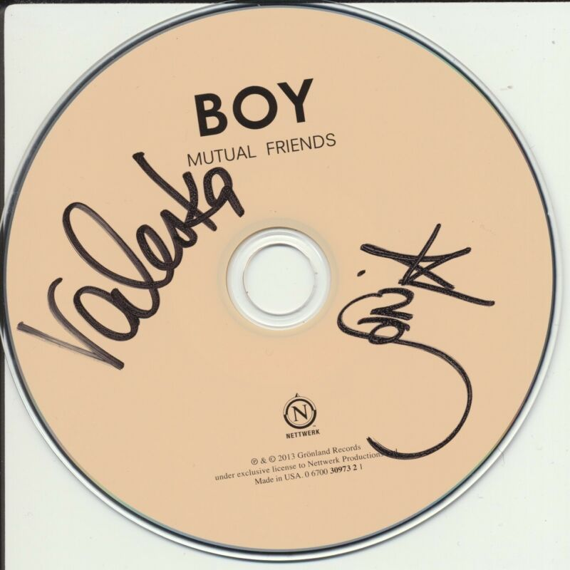BOY DUO SIGNED MUTUAL FRIENDS CD DISK VALESKA STEINER & SONJA GLASS