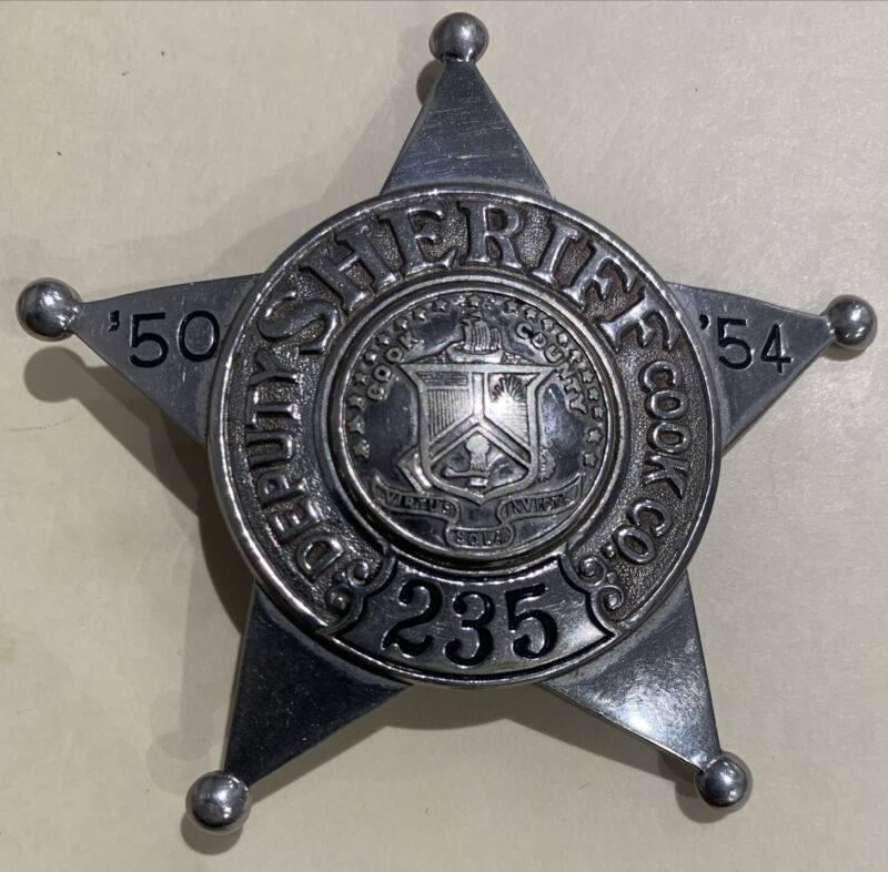 Rare Chicago Cook County Deputy sheriff 1950-1954