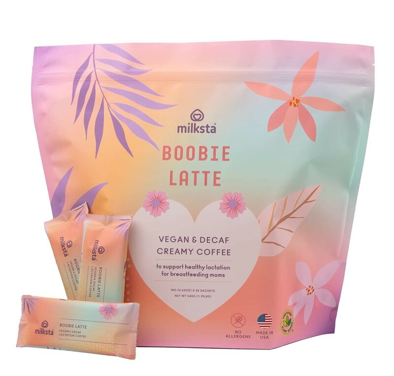 Milksta Vegan & Decaf Lactation Coffee Lactation Supplement 8/24/23.  B10