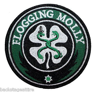 Flogging Molly Celtic Shamrock Snakes Fastway Iron/Sew On Patch Badge Applique