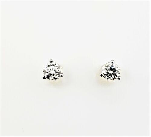 Vintage 14 Karat White Gold Diamond Stud Earrings .43 TCW. #7982