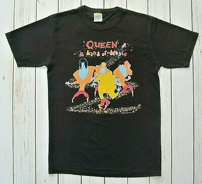 QUEEN Official Vintage A Kind Of Magic 1986 Tour + Dates Concert T-Shirt
