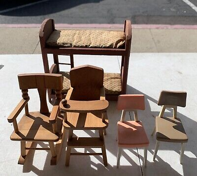 Vintage Wooden/ Plastic Barbie Doll Furniture