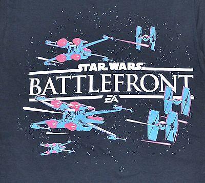 New Mens T Shirt Sz Sml Vintage Star Wars Battlefront Ez Sports Game Nwot Black