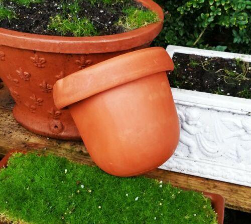 DAVID GIL vtg bennington pottery hanging terracotta planter mcm fern flower pot