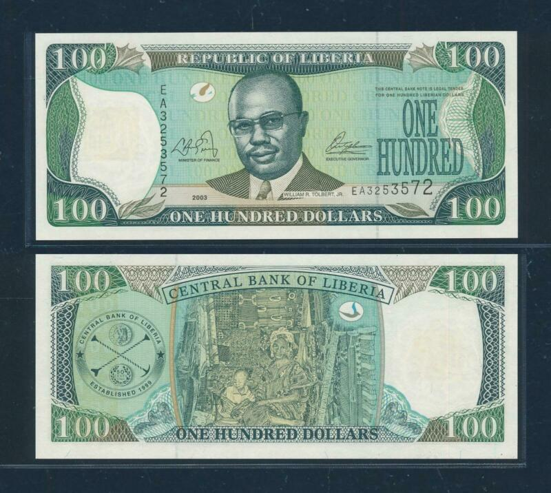 [105053] Liberia 2003 100 Dollars Bank Note UNC P30a