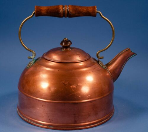 Vtg Revere Ware Tea Kettle Wood Handle Used Teapot