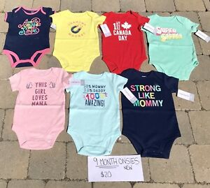 9 Month Girls NEW Carters Onsies