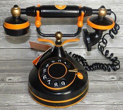 Victorian Style Halloween Decorations (HIDE & EEK BLACK & ORANGE HAUNTED SPOOKY VICTORIAN STYLE TELEPHONE ~ NEW)