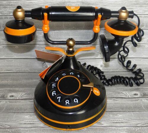 HIDE & EEK BLACK & ORANGE HAUNTED SPOOKY VICTORIAN STYLE TELEPHONE ~ NEW VHTF