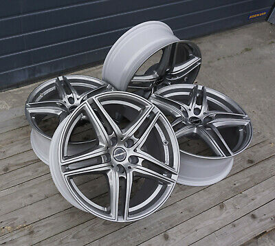 4x Felgen BORBET XR 8x18 ET39 5x112 Metal Grey für Audi A4 B8 A6 4F 4G VW Arteon