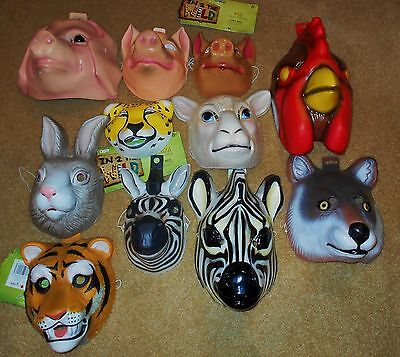 ANIMAL MASKS: PIG, SHEEP, TIGER, WOLF, ZEBRA HALLOWEEN MASKS ADULT,KIDS](Wolf Mask Kids)
