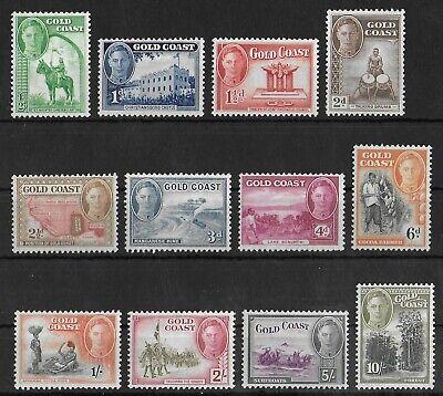 GOLD COAST 1948 Mint LH Complete Set of 12 Stamps SG #135-146 CV £90 VF