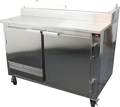Coolman Commercial 2- Door Refrigerated Pizza Prep Table S.s Top 48