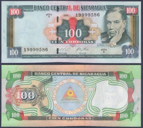 NICARAGUA P190***100 CORDOBAS***ND 1999***UNC***USA SELLER