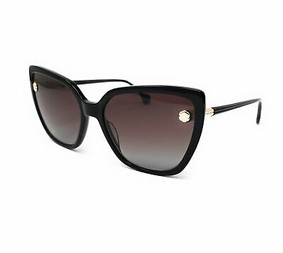 Salvatore Ferragamo Sunglasses SF914S 001 Black Cat Eye Women's 59x17x140