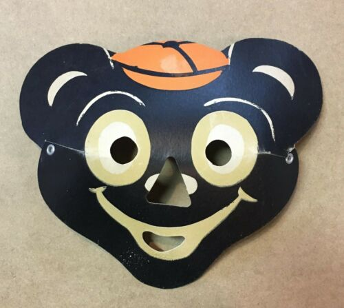 Vintage Halloween Paper Bear Luminous Masklite Mask 50