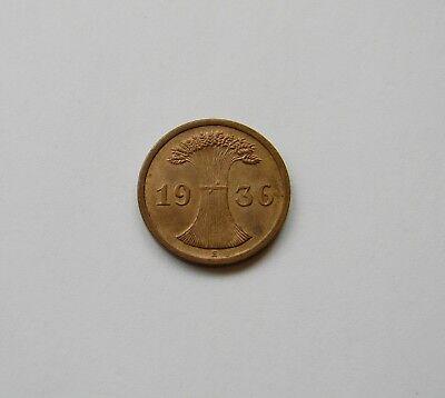 WEIMAR: 2 Reichspfennig 1936 E, J. 314, fast stempelglanz, SELTEN !!  I.