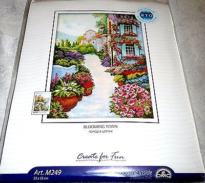 Rto Counted Cross Stitch Kit Blooming Town Item  M249