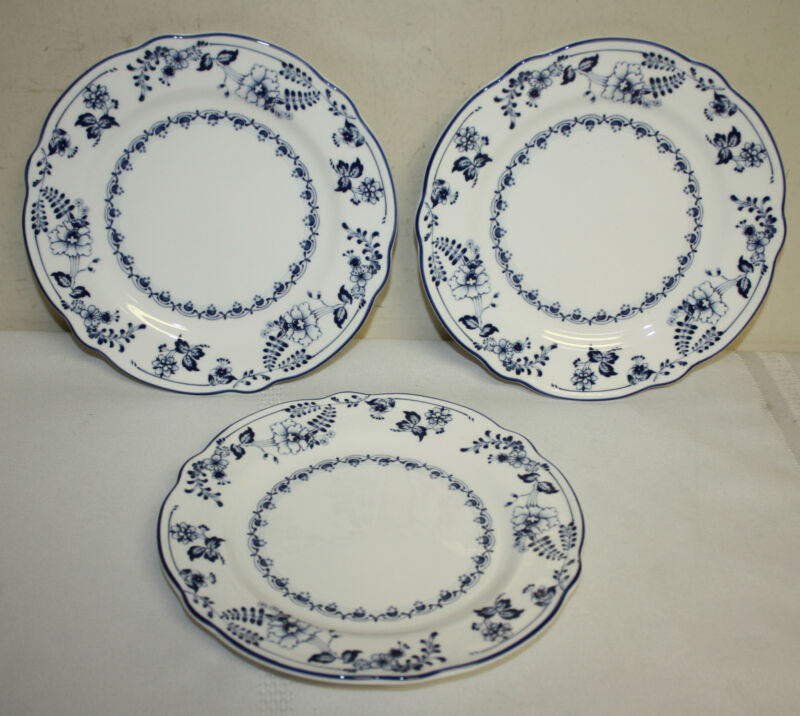 Noritake Primachina Fair Wind Blue White Bread and Butter Plates Lot 3