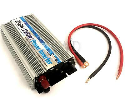 DC - AC 1500W Battery 230V Mains Power Inverter T4 T5 T6 T25 Camper 3000W Peak