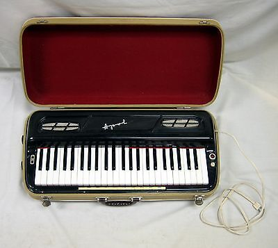 Vintage Musical Instrument Harmophone Piano Organ Electric Keyboard in Box Works on Rummage