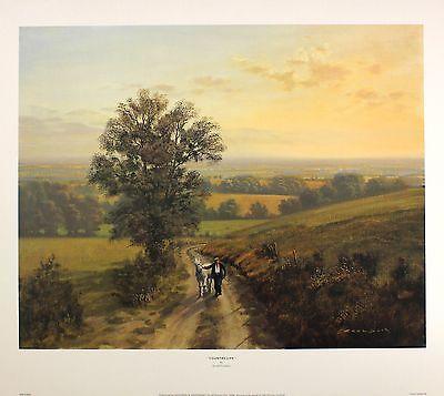 49709ac93424e GERALD COULSON Country Life farming horse art print NEW SIZE 40cm x 50cm  RARE