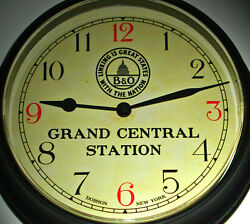 Baltimore & Ohio Rail Road B&O, Chicago Grand Central Station Waiting Room Clock