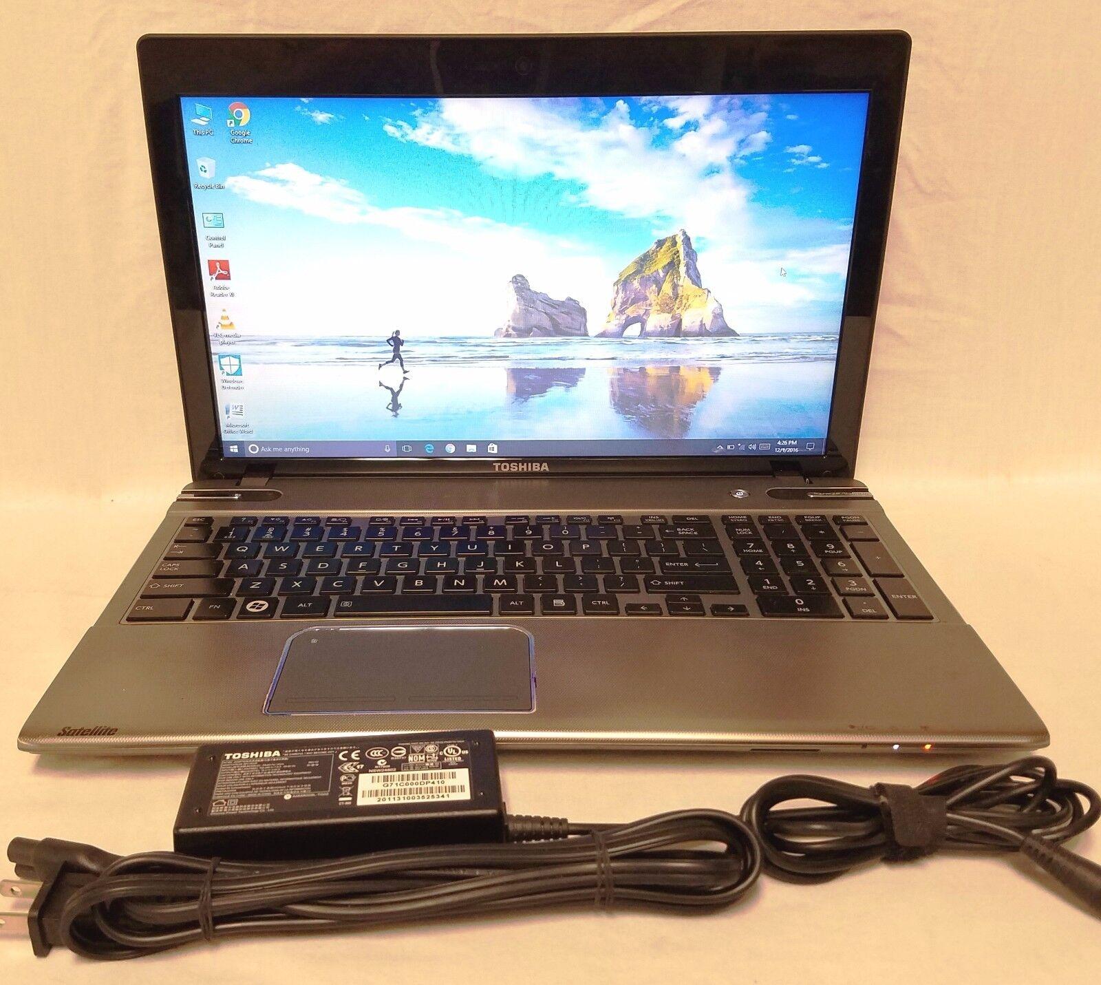 TOSHIBA SATELLITE-P855-S5200 | CORE i7 3610QM 2.30GHZ | 750GB | 8GB RAM Win 10