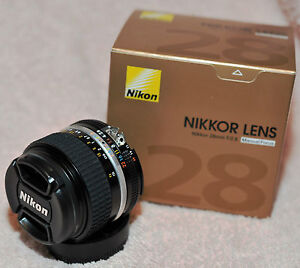 Nikon Nikkor Ais 28mm f/2.8 Lens NEW GENUINE